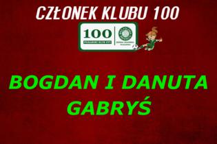 Państwo Bogdan i Danuta Gabryś nowymi członkami KLUBU 100!!!