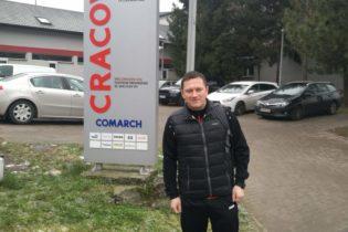 Trener Bartosz Kulig po stażu w Cracovii Kraków.